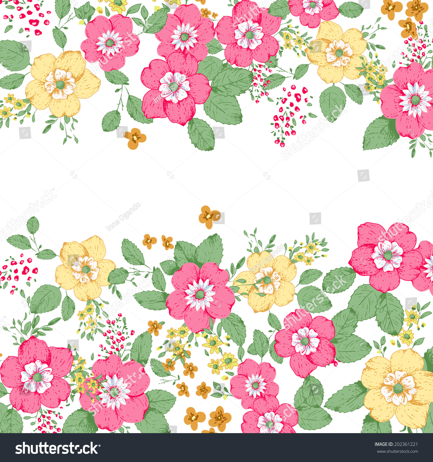 Abstract Roses Shabby Chic Background Space Stock Vector 202361221 ...