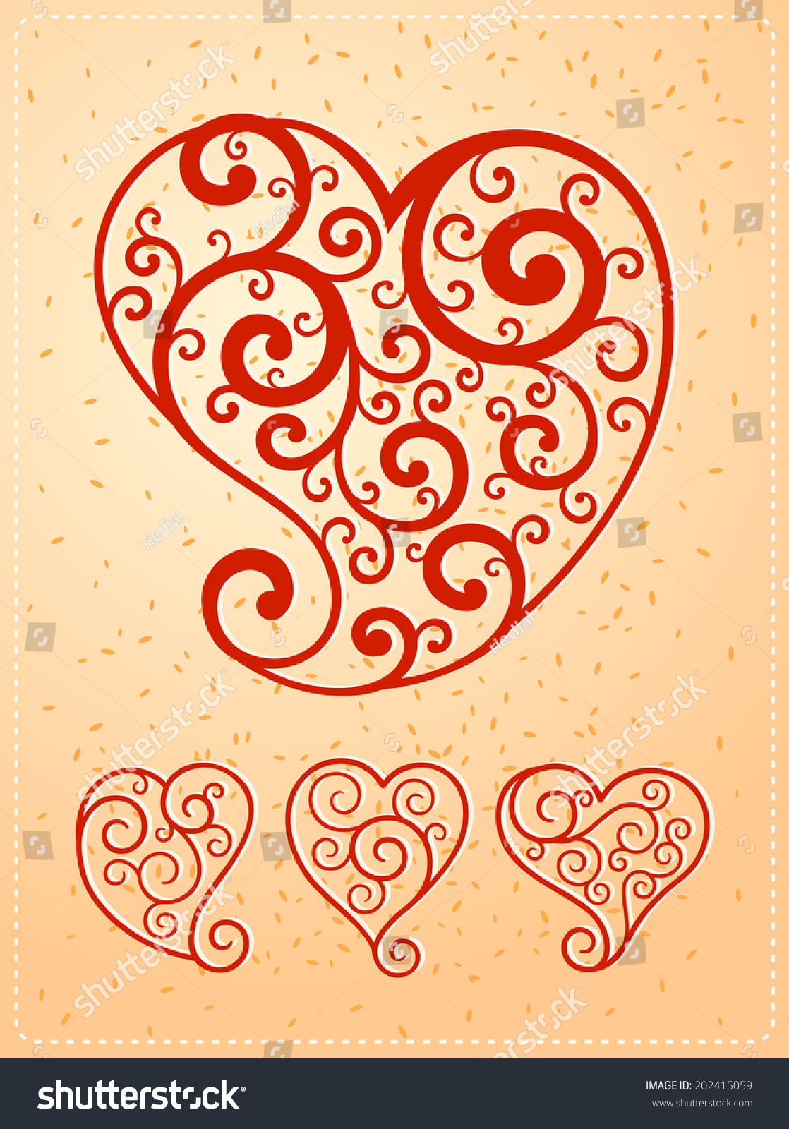 Heart Symbol Various Purpose Event Such Stock Vector Royalty Free