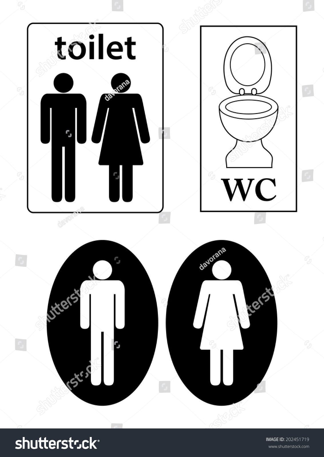 Womens mens toilets wc sign toilet stock vector 202451719 womens and mens toilets wc sign toilet symbol male and female silhouette and biocorpaavc Choice Image