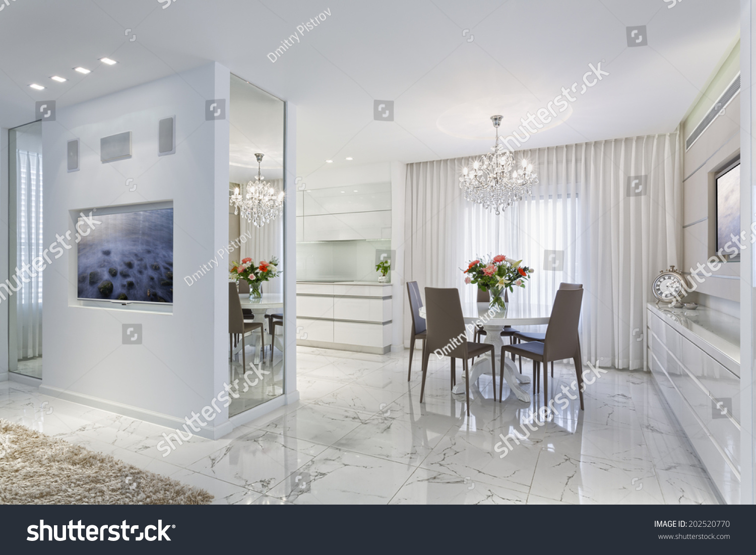 Modern Luxury Dining Room Home Styling Stock Photo (Safe to Use ...