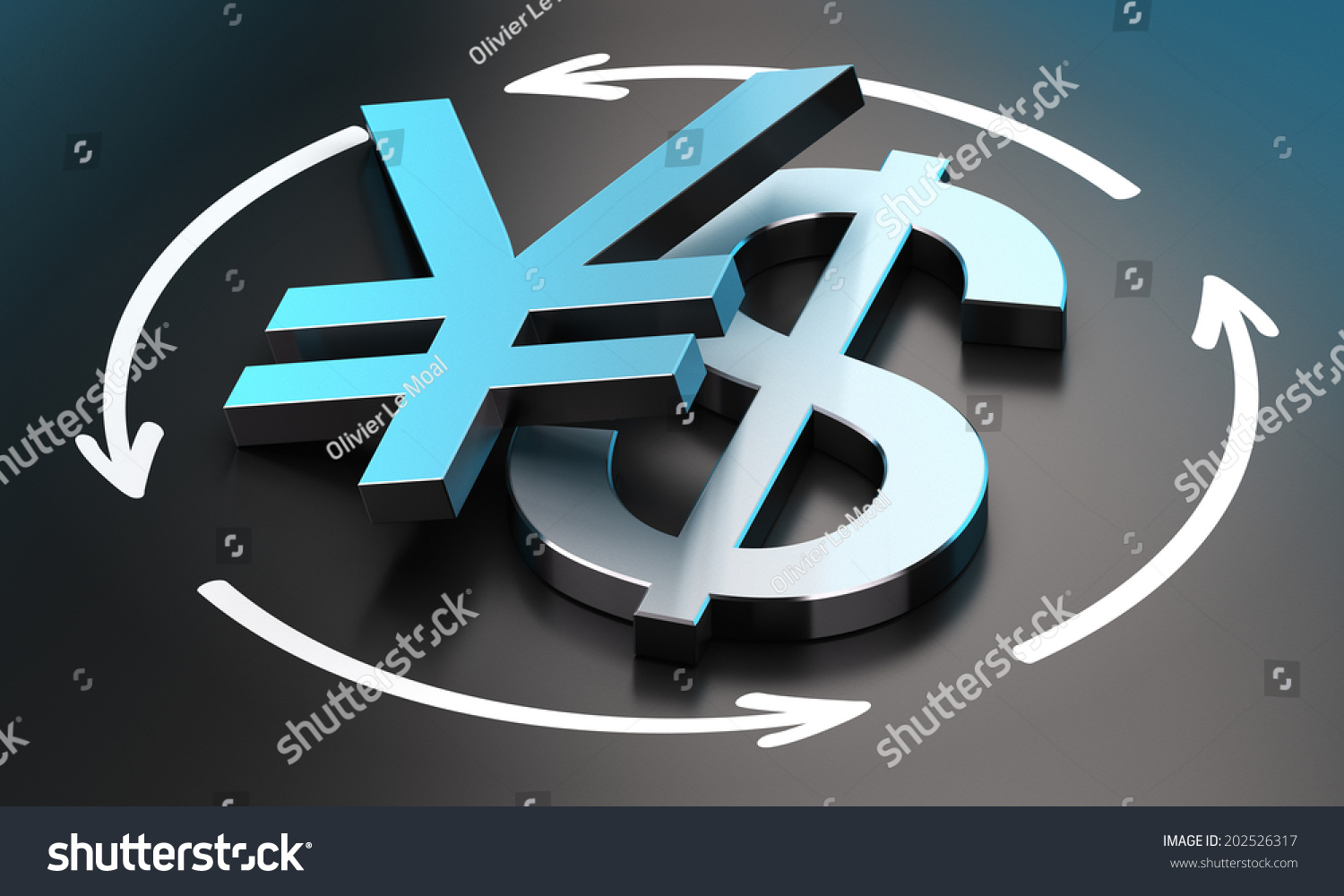Us Dollar Japanese Yen Symbols Over Stock Illustration 202526317