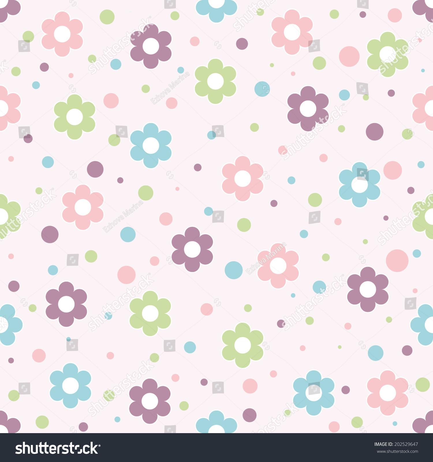 Scrapbook paper baby - Baby Background With Colorful Flowers And Circles Paper For Scrapbook Or Background