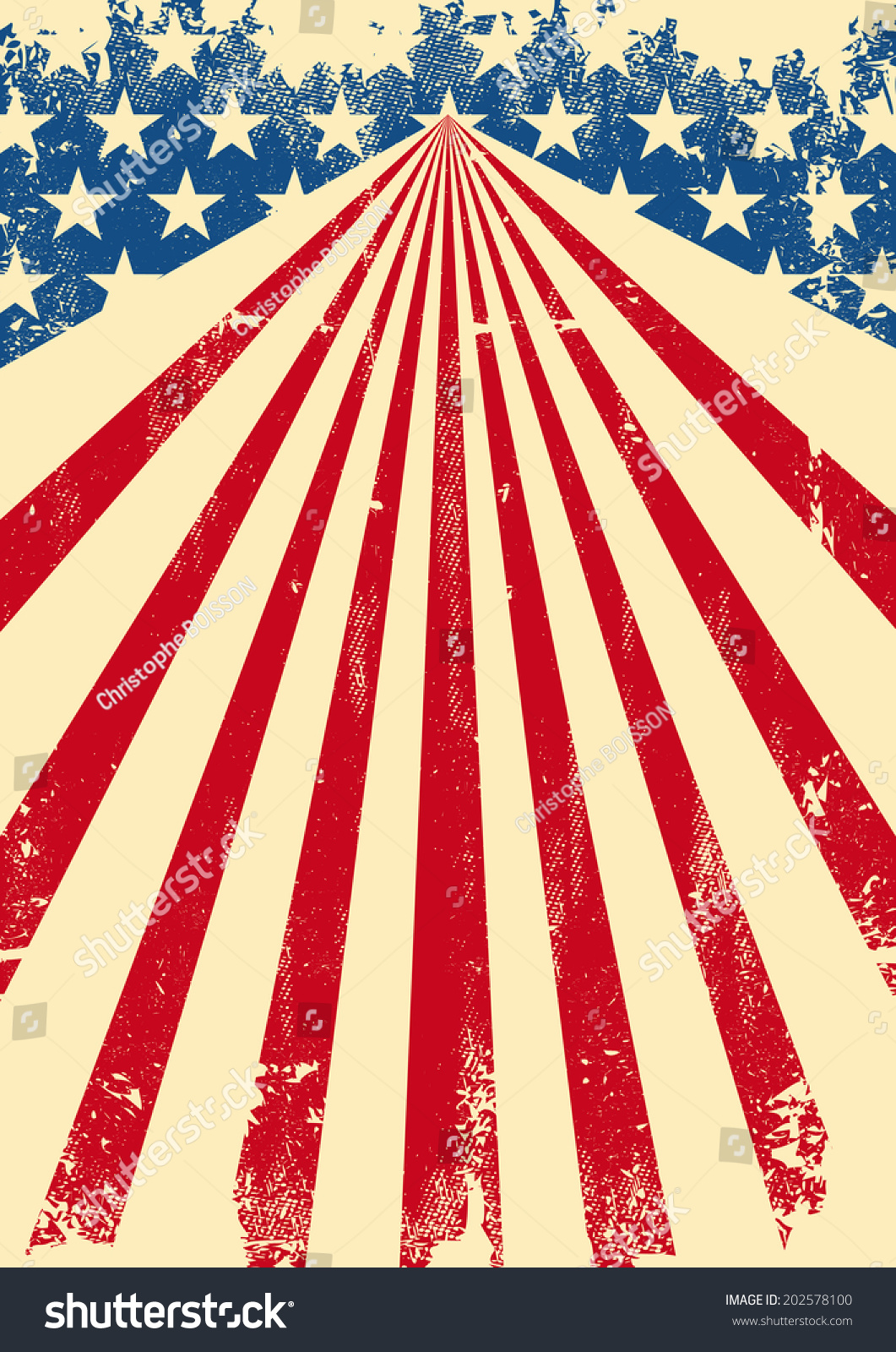 American Dirty Flag Background. A Vintage American Poster ...