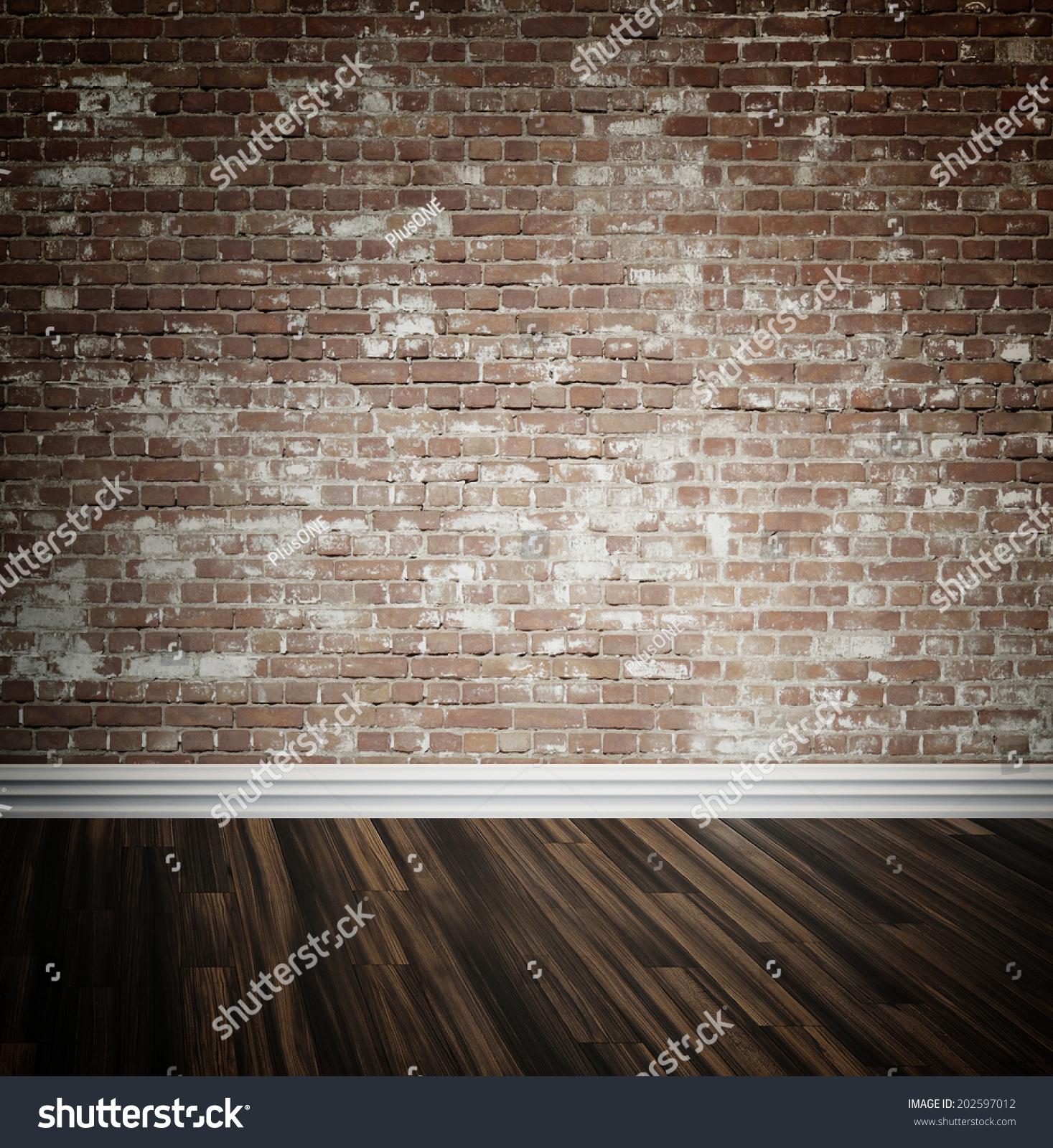 Rustic Face Brick Interior Wall Wooden Stock Illustration 202597012 Shutterstock
