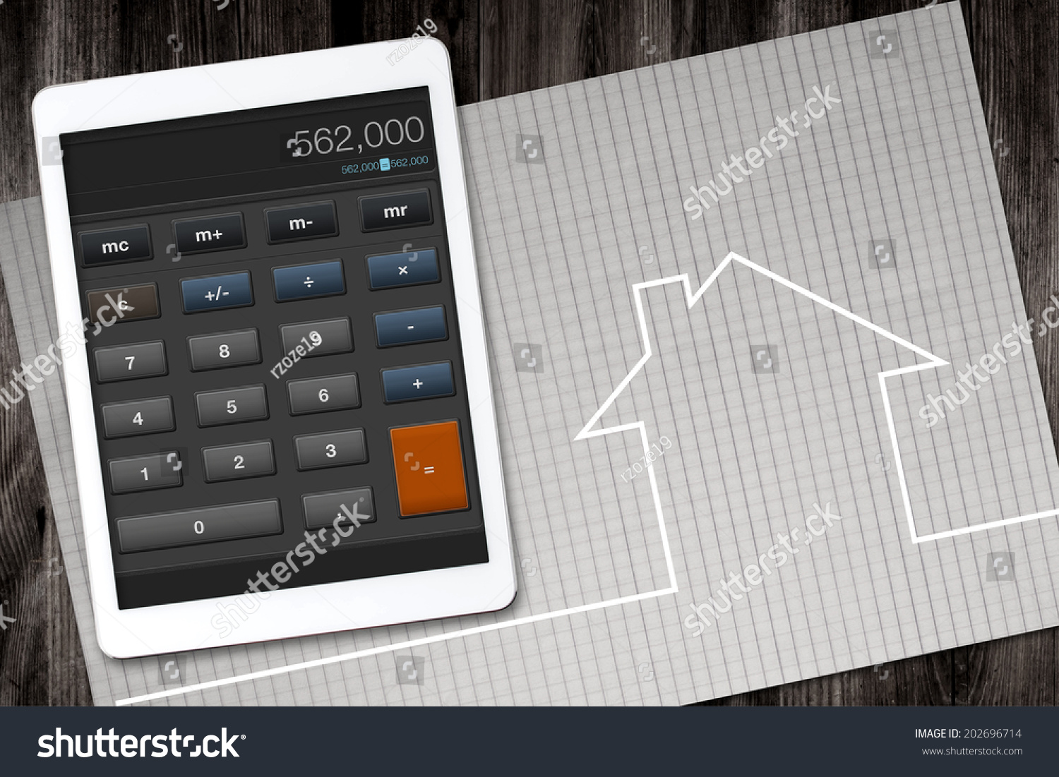 home construction cost calculator stock photo 202696714