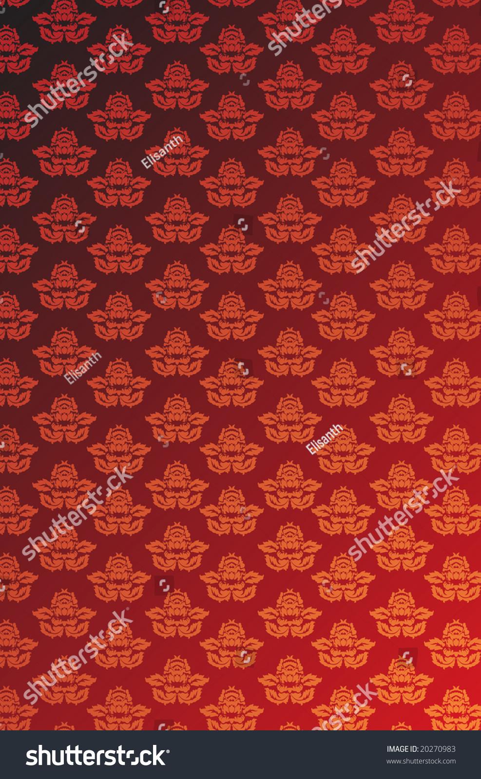 vector red gold glamour wallpaper stock vector 20270983 - shutterstock