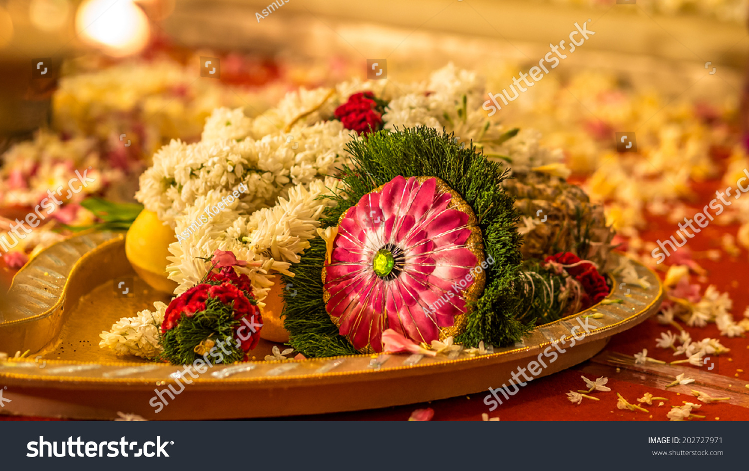 Tray Bridal Flower Bouquet Use South Stock Photo Edit Now