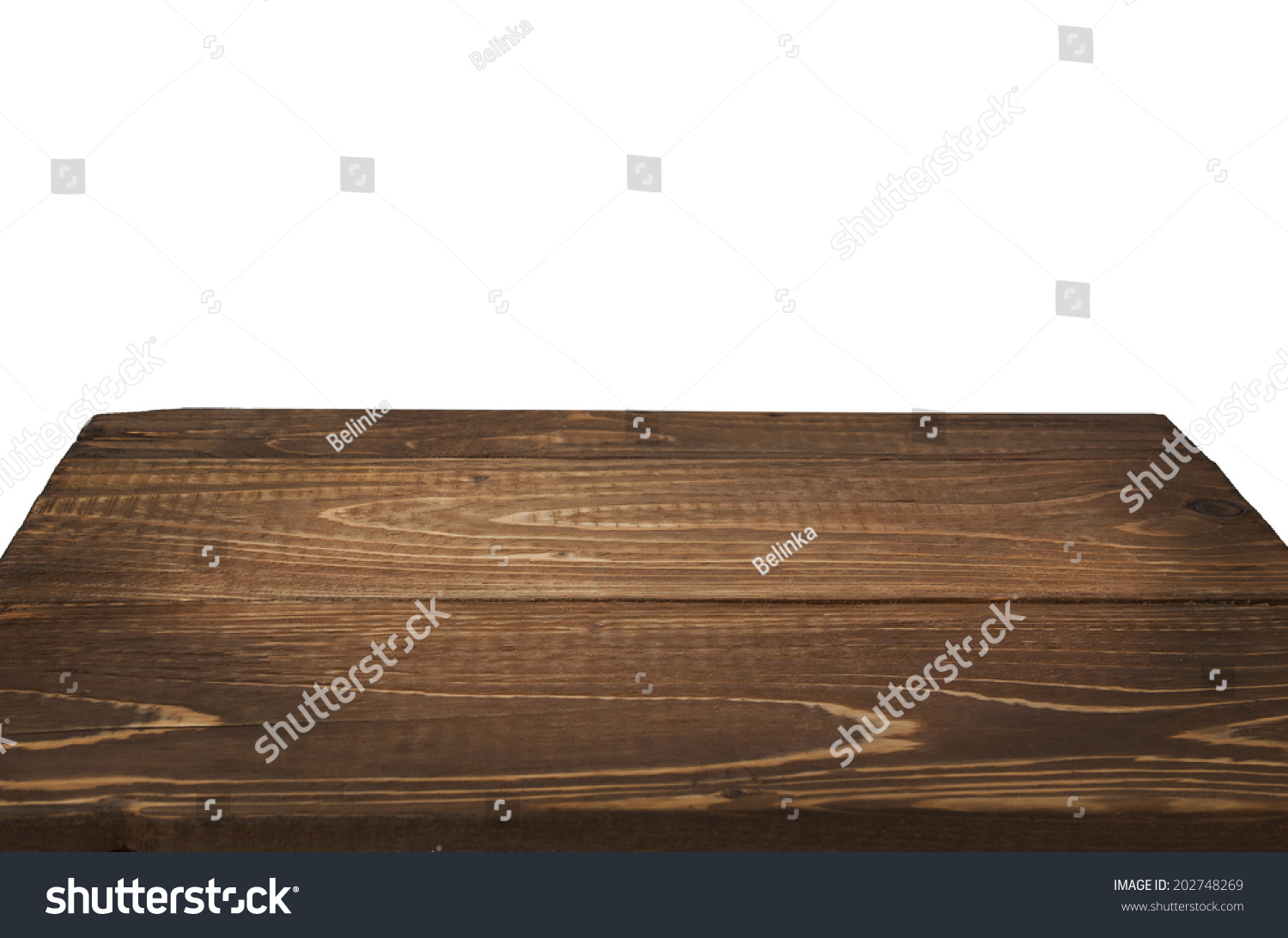 Wood Table Perspective On White Background Stock Photo ...