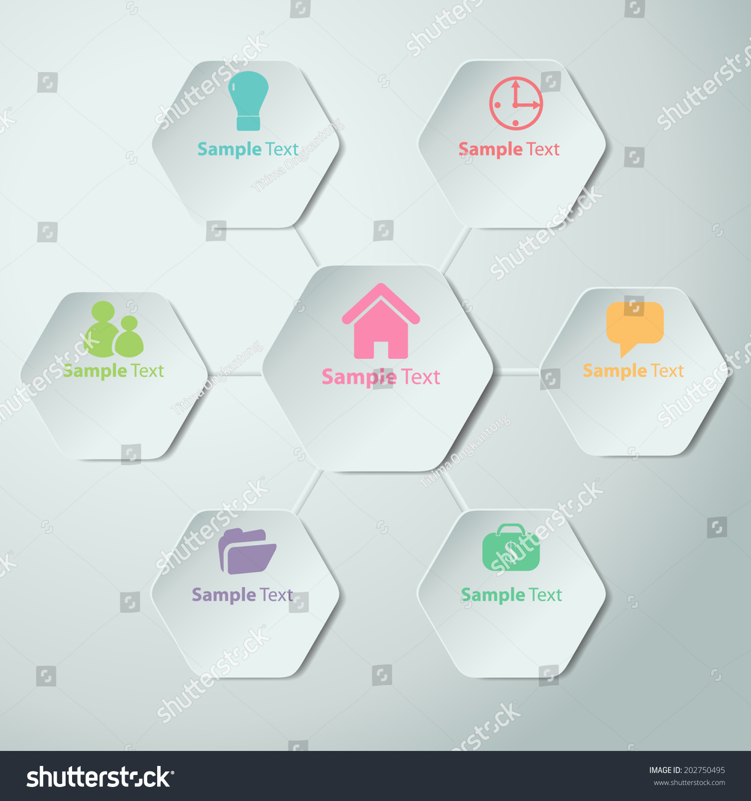 Colorful Polygons Cut Paper Design Template. Vector Illustration For Your  Business Presentation. Icon.  Paper Design Template
