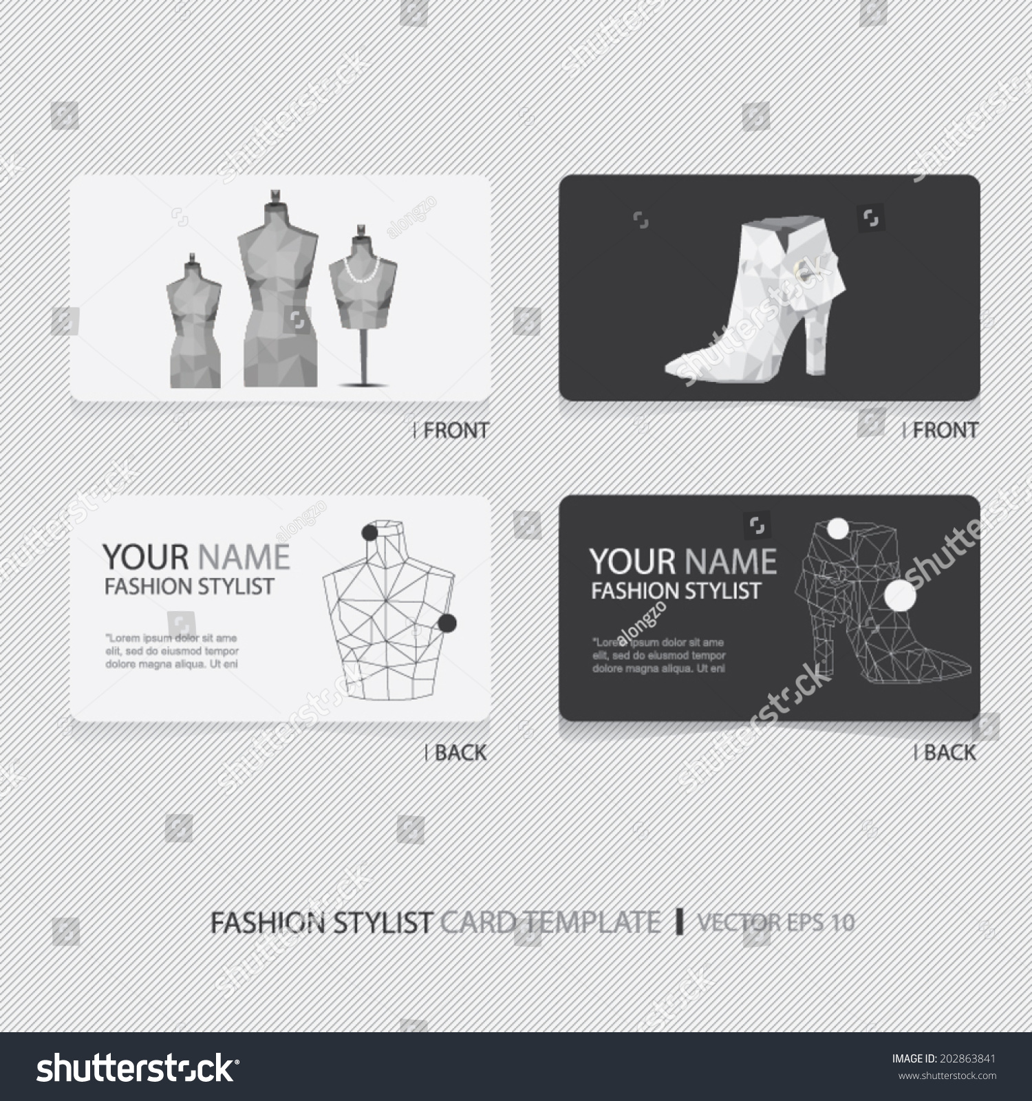 fashion stylist designer business card set - Fashion Designer Business Card