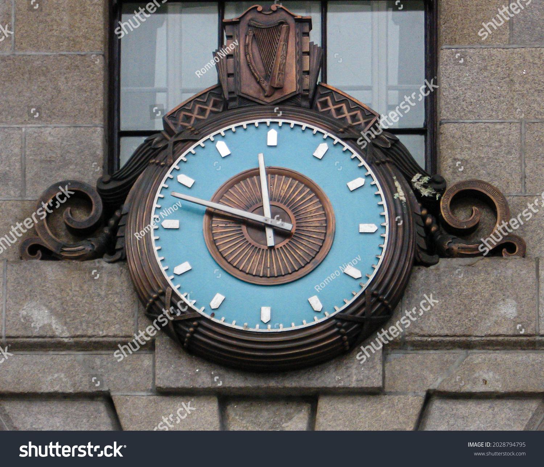 Clock on a wall in Dublin