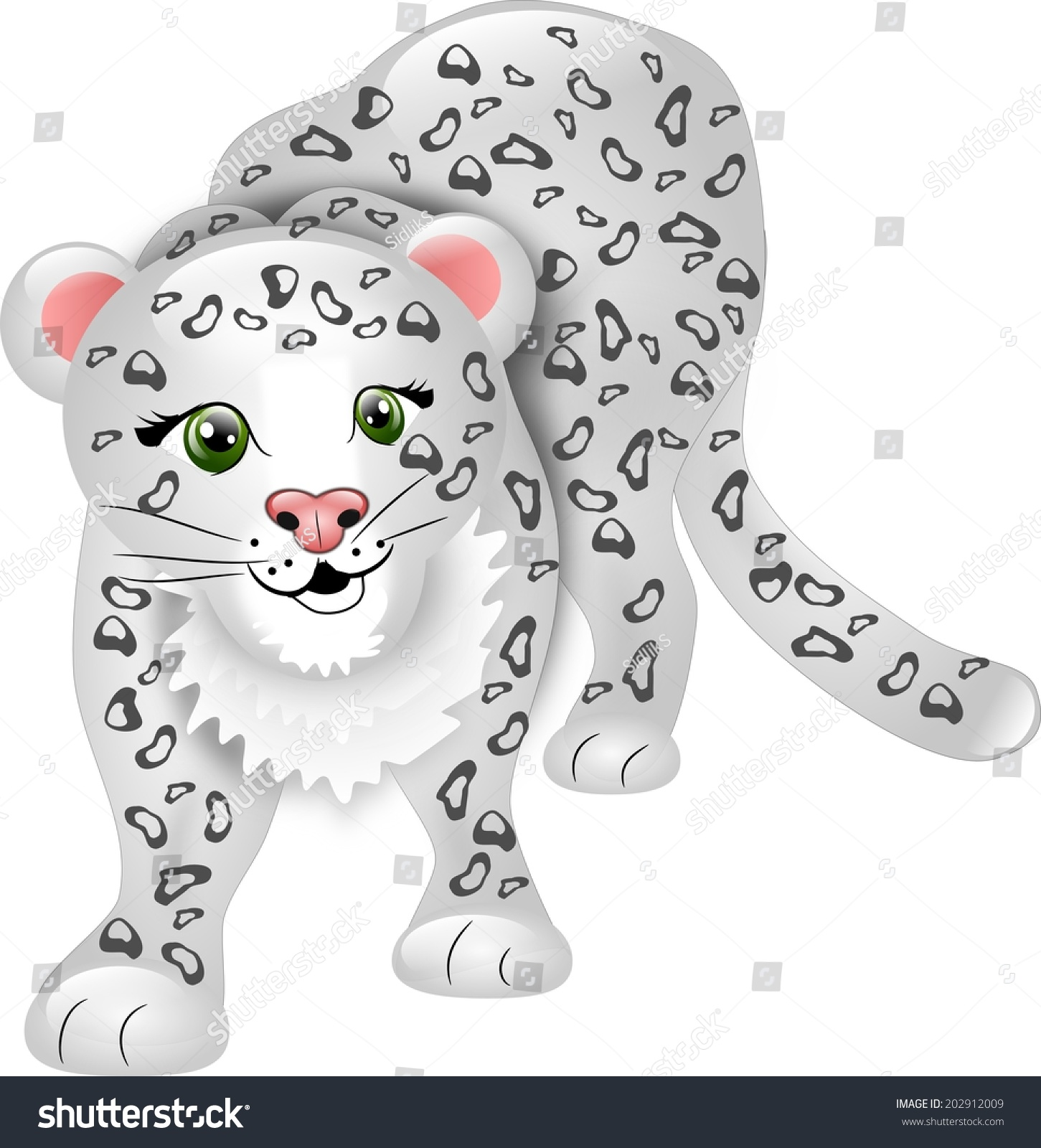 Cartoon snow leopard - photo#13