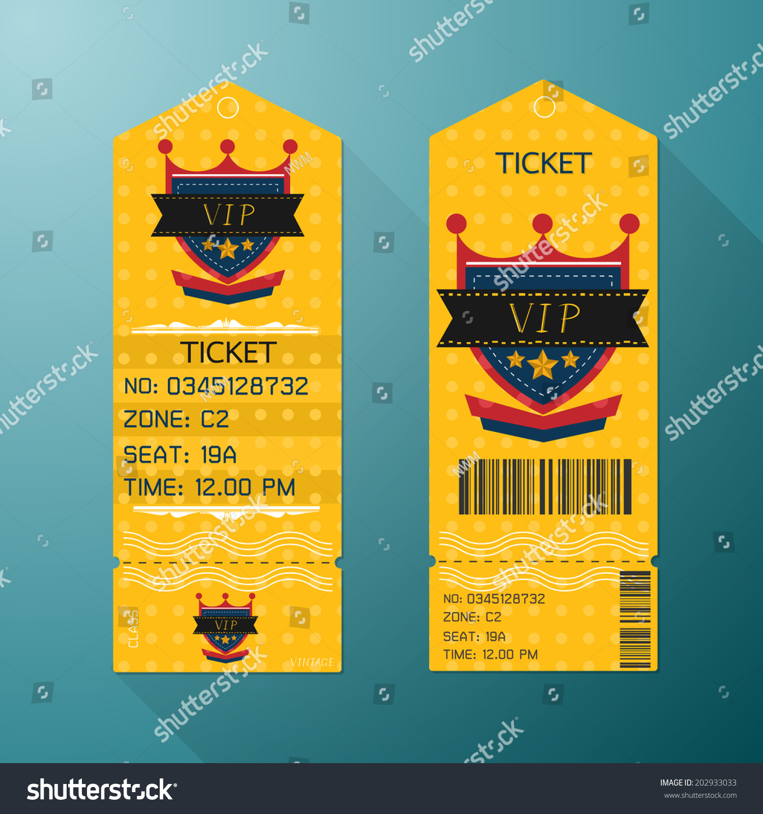 Ticket Design Template Retro Style Gold Vector 202933033 – Ticket Design Template