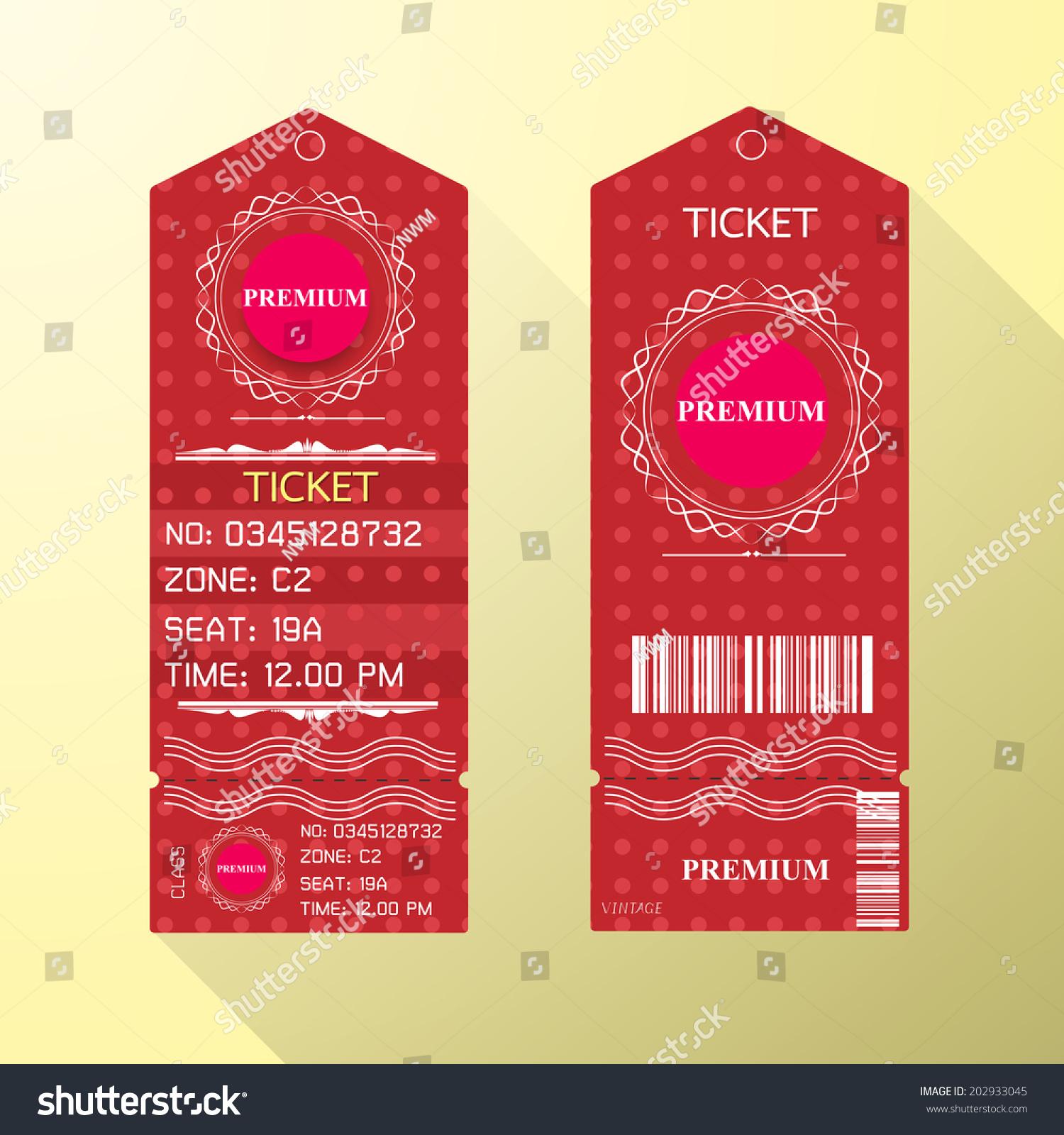 ticket design template free
