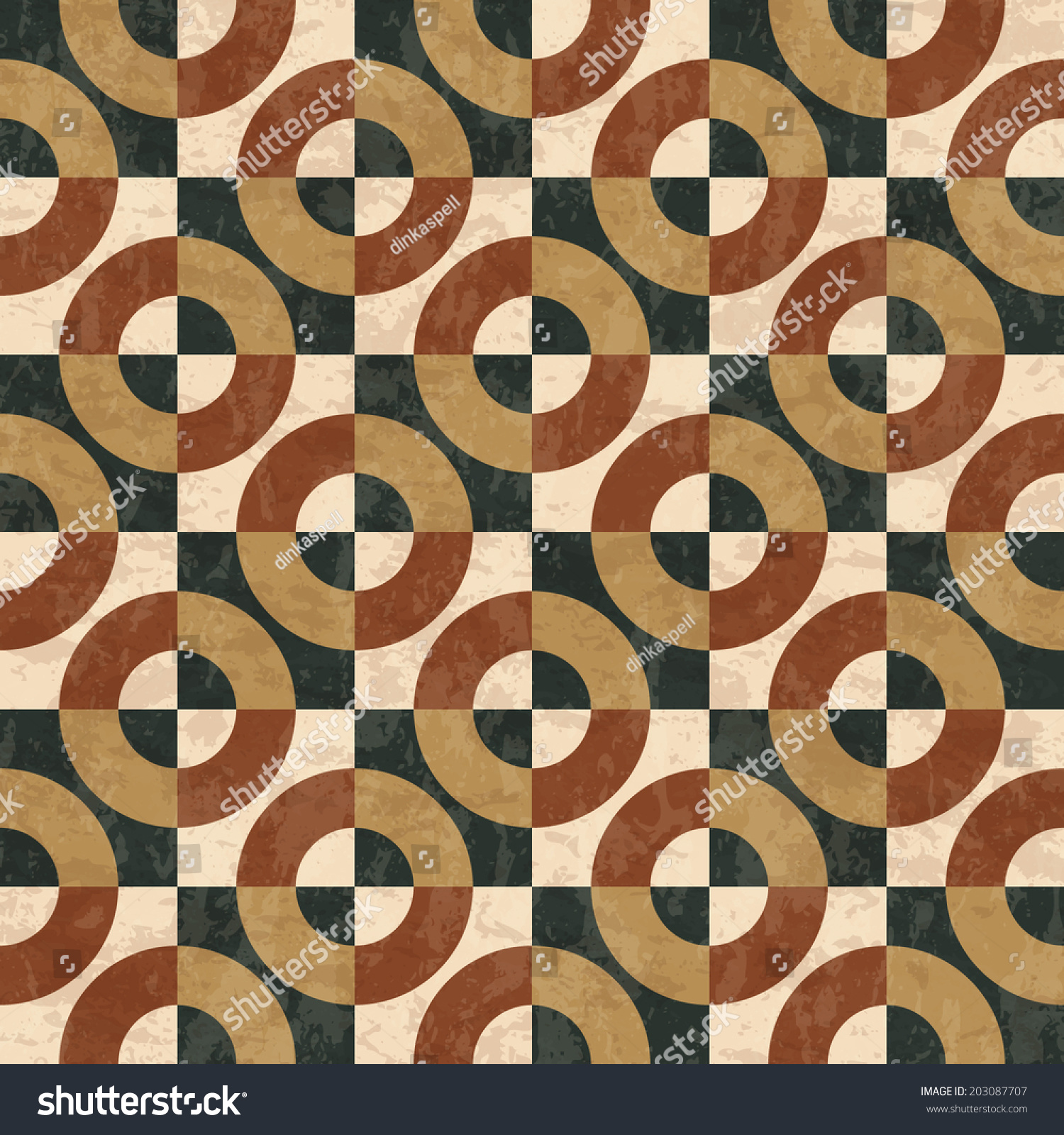 Geometric Marble Floor : Antique marble floor tiles abstract geometric stock vector