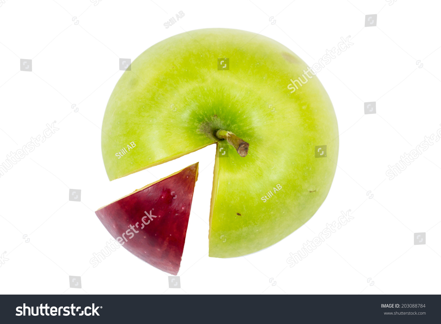 Apple pie chart isolated on white stock photo 203088784 shutterstock apple pie chart isolated on white background business concept nvjuhfo Images