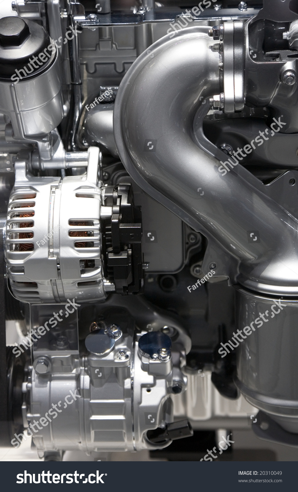 Elements New Modern Automobile Engine Shown Stock Photo 20310049 ...