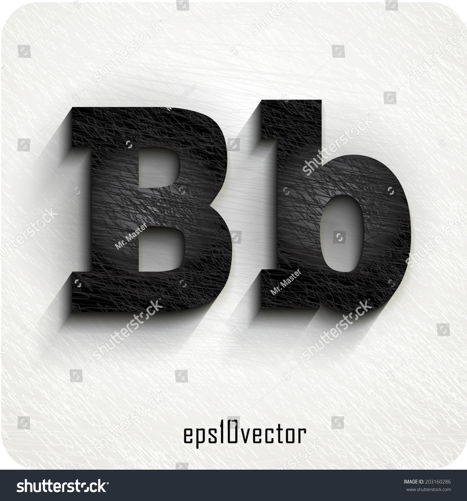 Stylish Black Squared Shabby Alphabet Letters Stock Vector Royalty