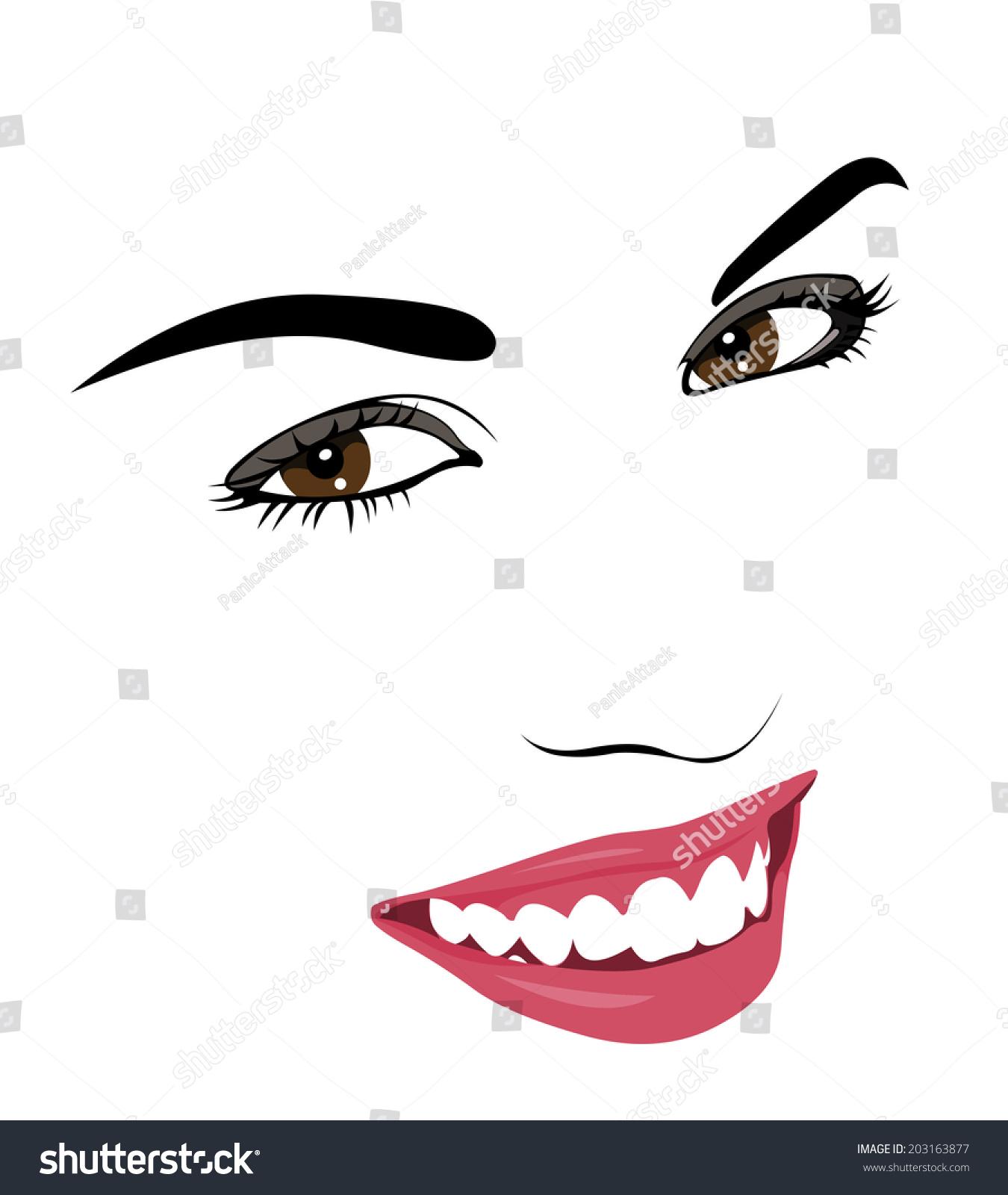 Beautiful Smile Clip Art