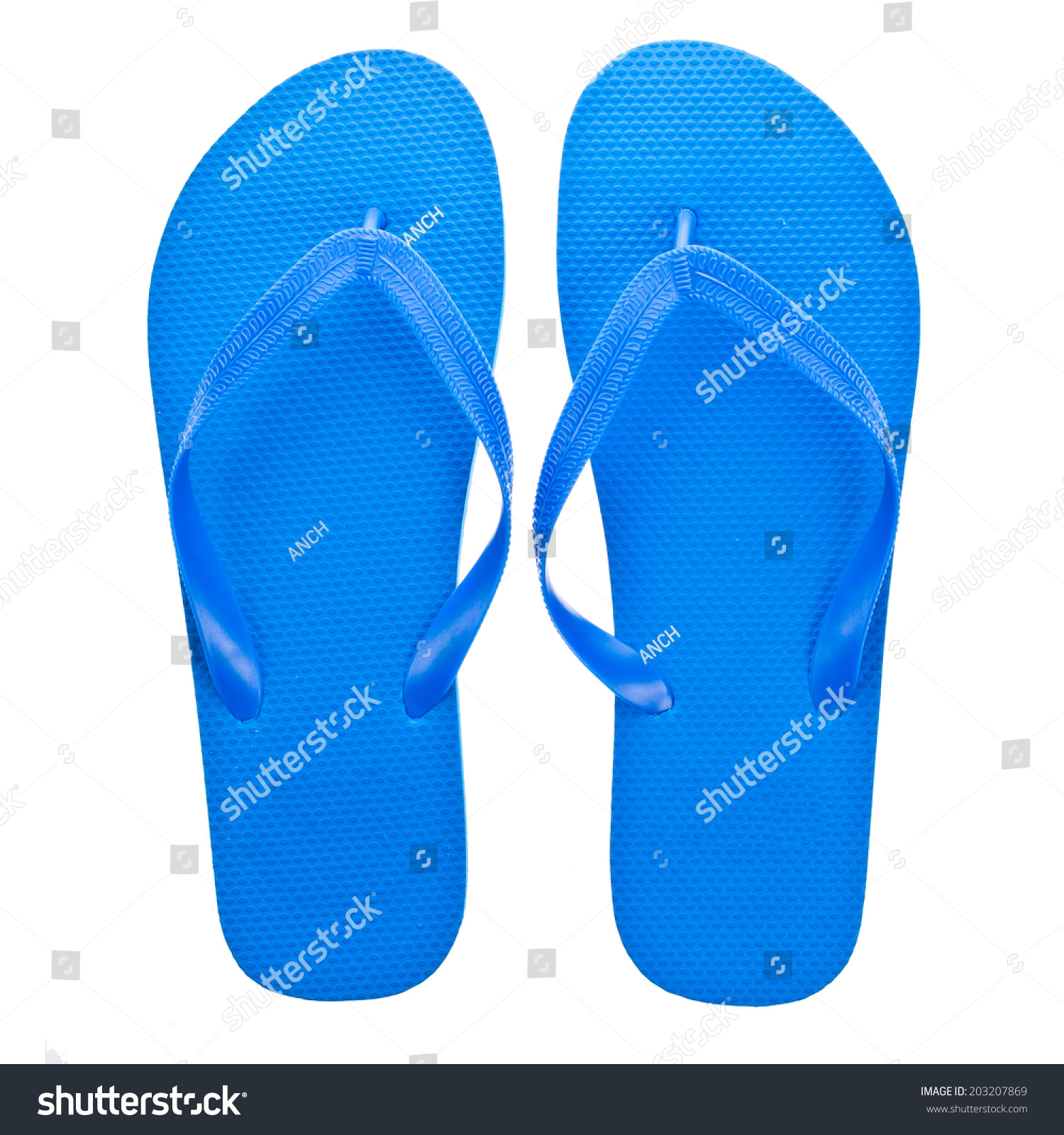 7d2b60b325a5 Blue Beach Sandals Flip Flops Isolated Stock Photo (Edit Now ...