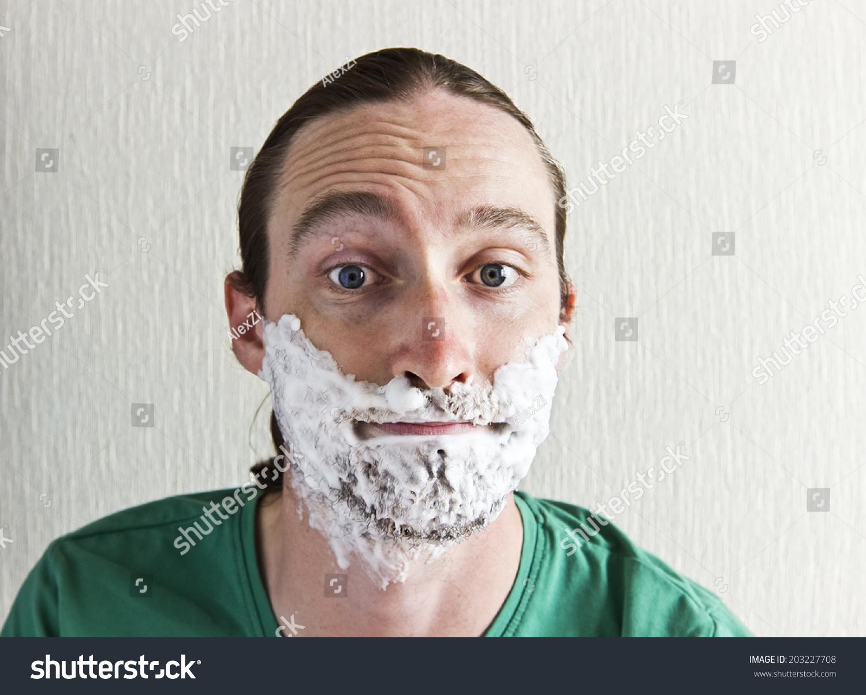 funny beard shaving