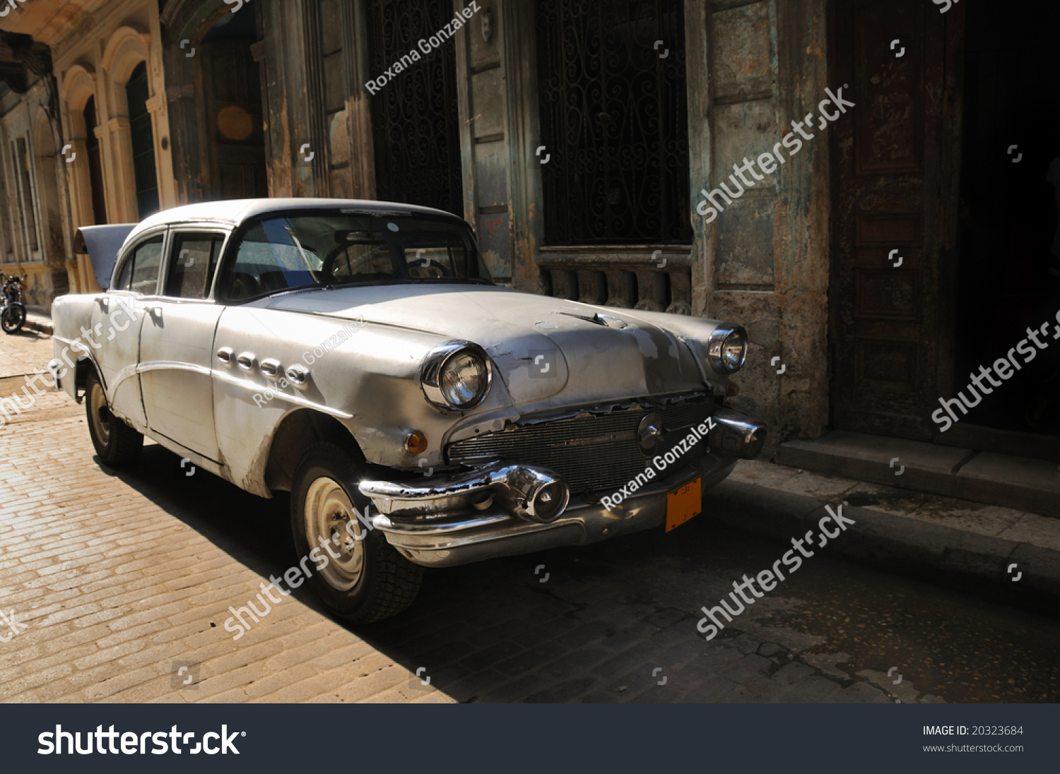 Vintage Classic American Car Streets Old Stock Photo (Royalty Free ...