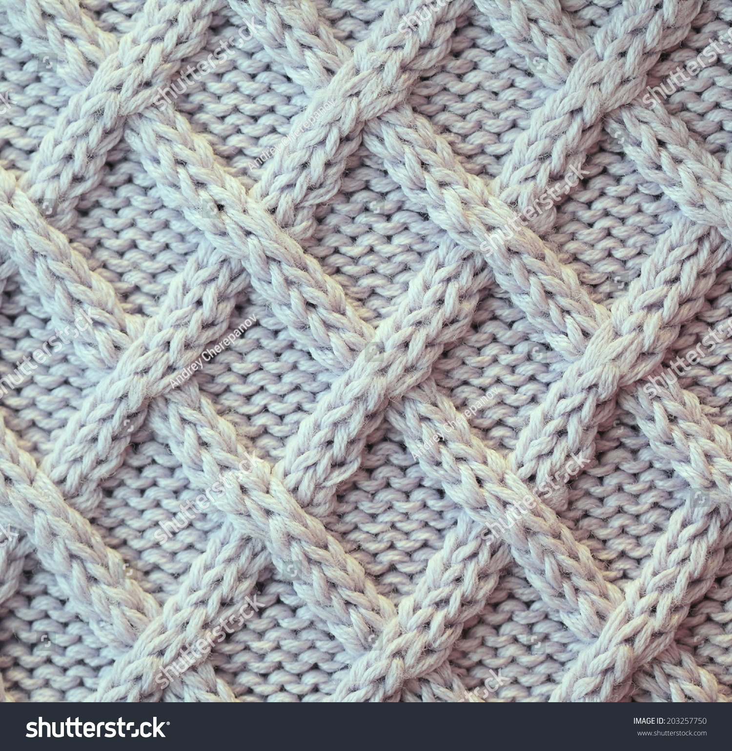 Unusual Abstract Light Grey Knitted Pattern Background Texture