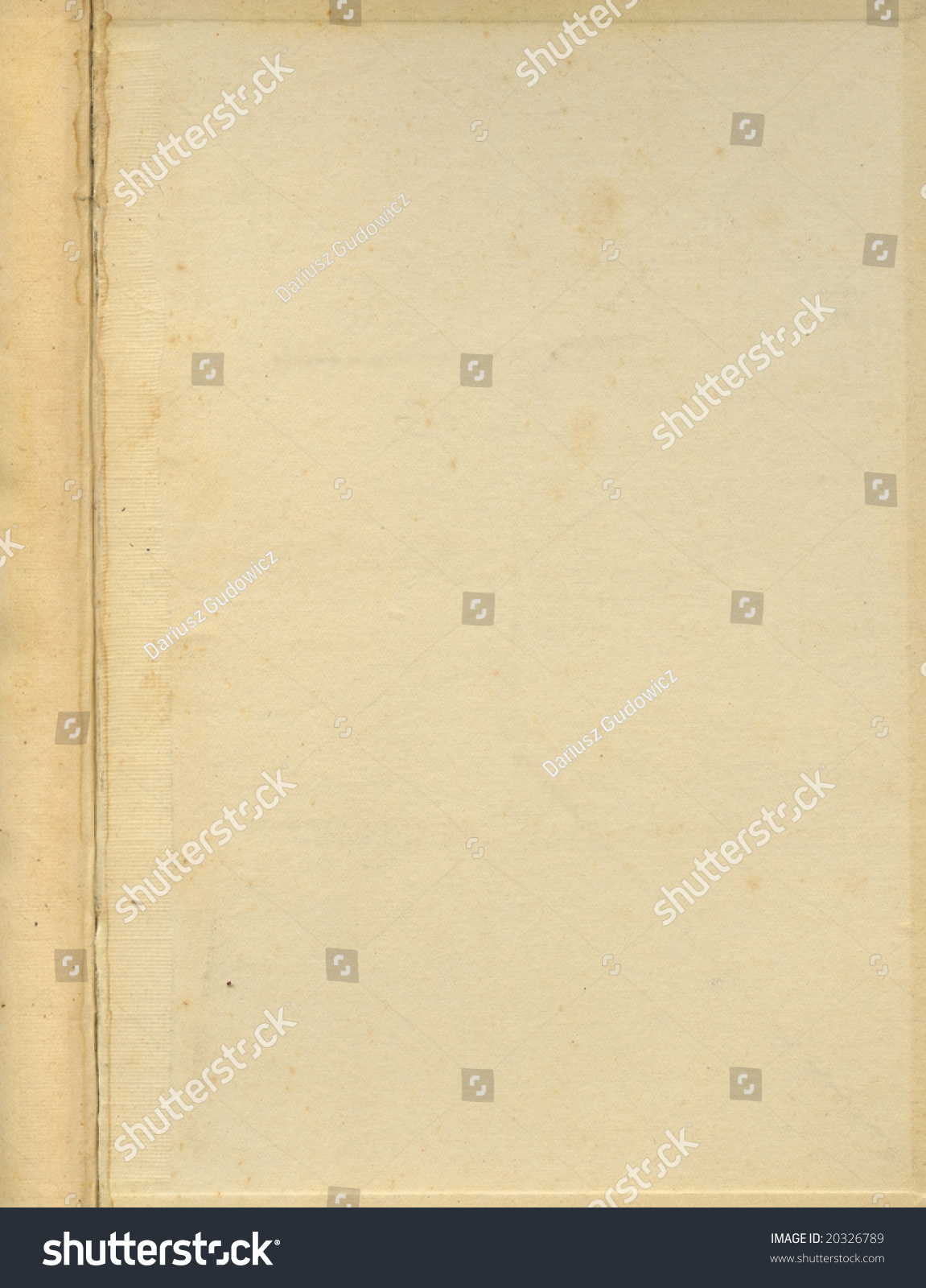 Old Book Cover Page ~ Old grunge book cover inside page stock photo