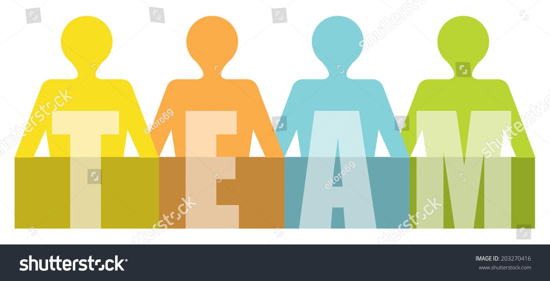 team presentation template human figures stock vector 203270416, Powerpoint templates