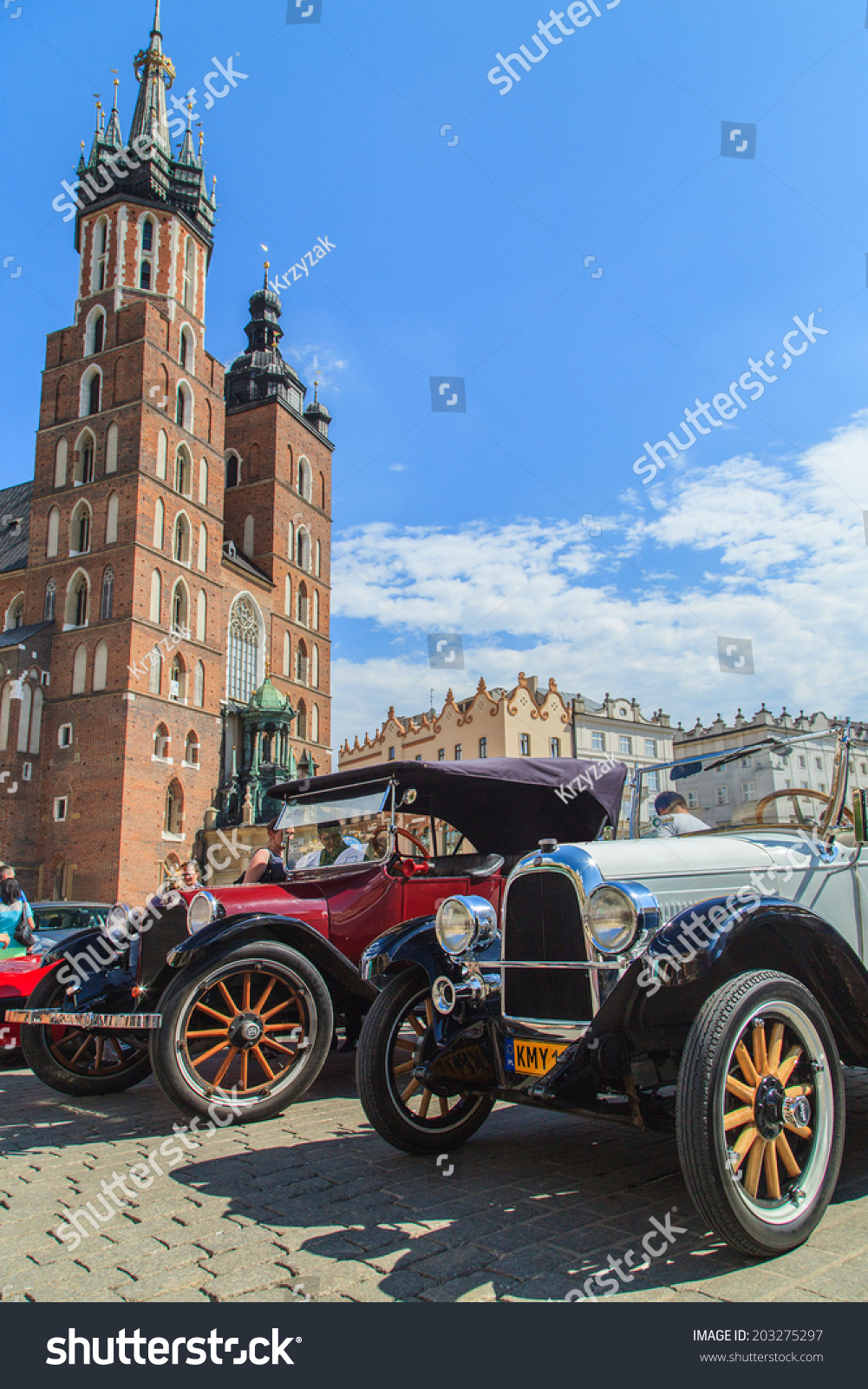 Cracow July 6 Classic Car On Stock Photo 203275297 - Shutterstock