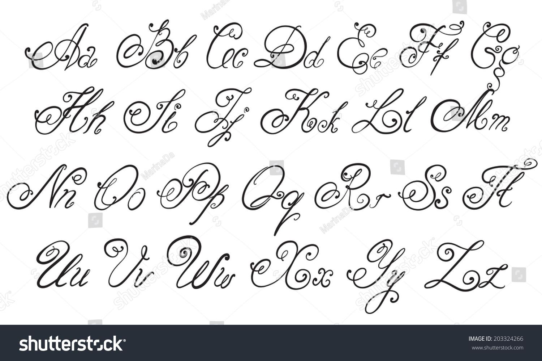 vector hand drawn calligraphic - photo #4