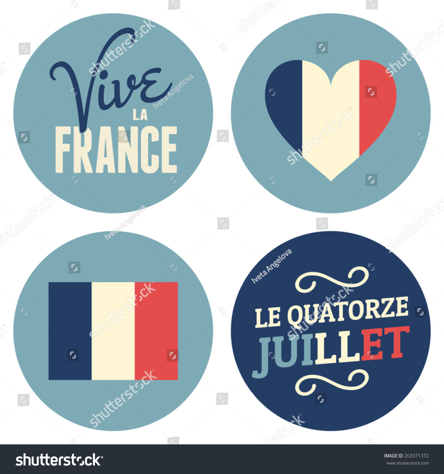 Happy Bastille Day Greetings Card Design 14th July