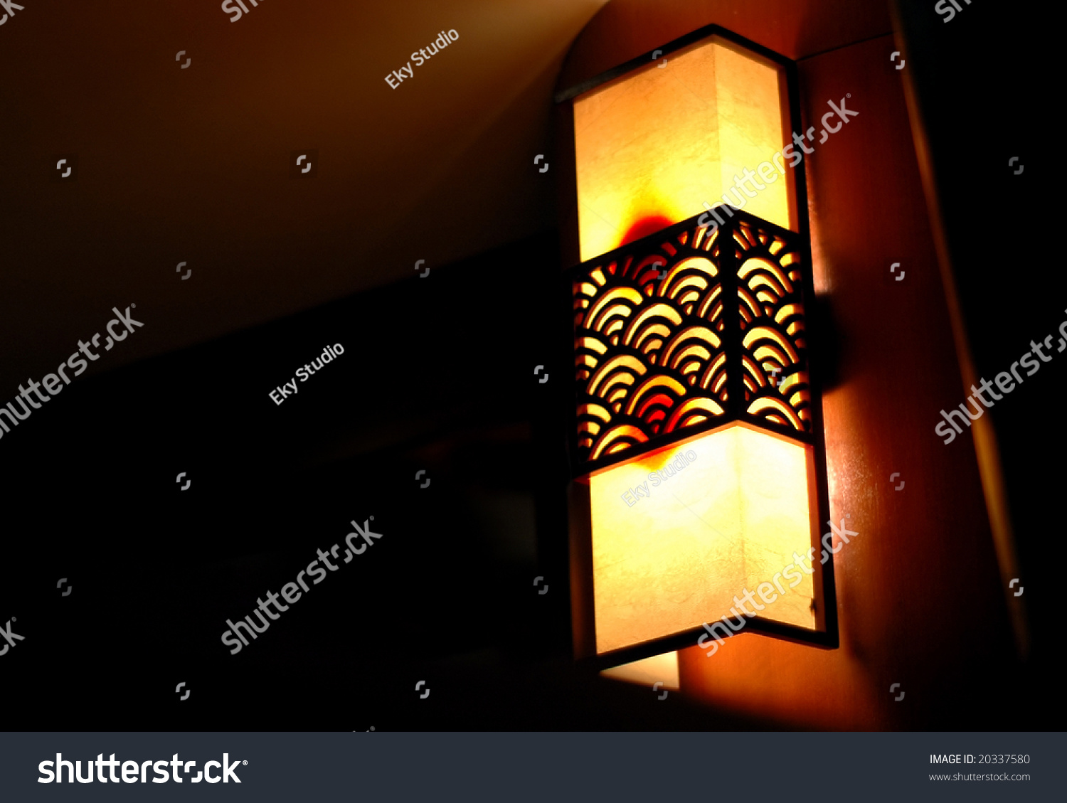 Japanese wall lamp stock photo download now 20337580 shutterstock japanese wall lamp aloadofball Images