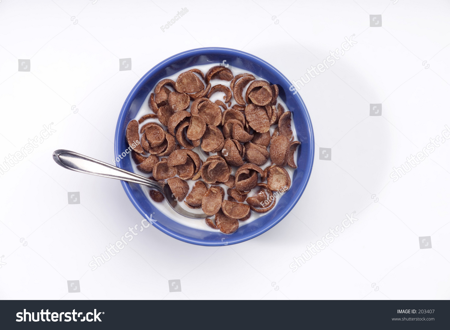 Chocolate Cereal In Bowl With Milk Stock Photo 203407 : Shutterstock