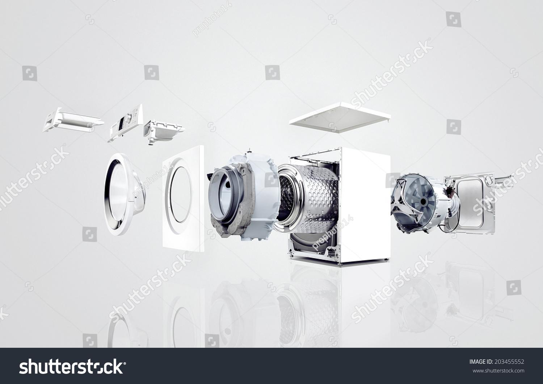Washing Machine Anatomy Stock Photo (Edit Now) 203455552 - Shutterstock