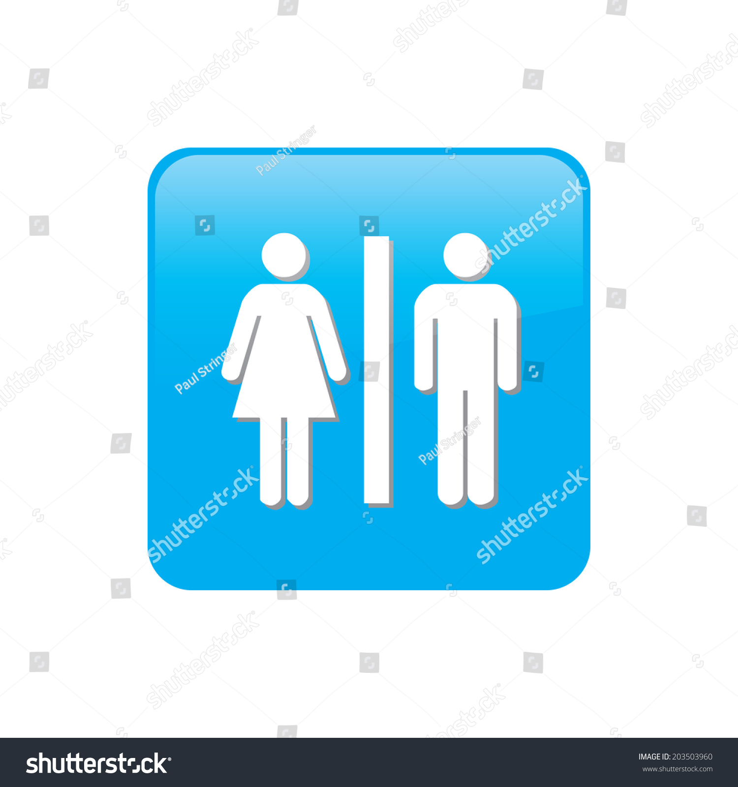 Colorful Square Buttons Website App Toilet Stock Illustration ...
