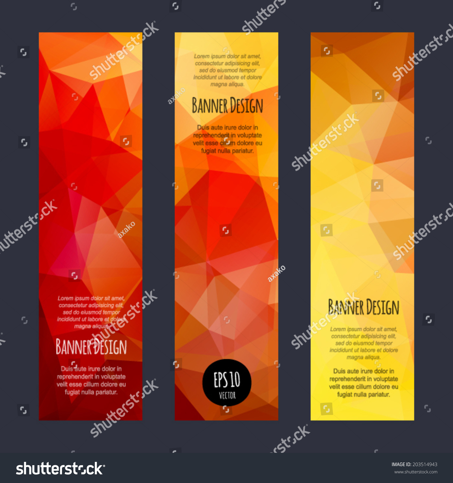 Vector Vertical Banners Collection Abstract Multicolored Stock ...