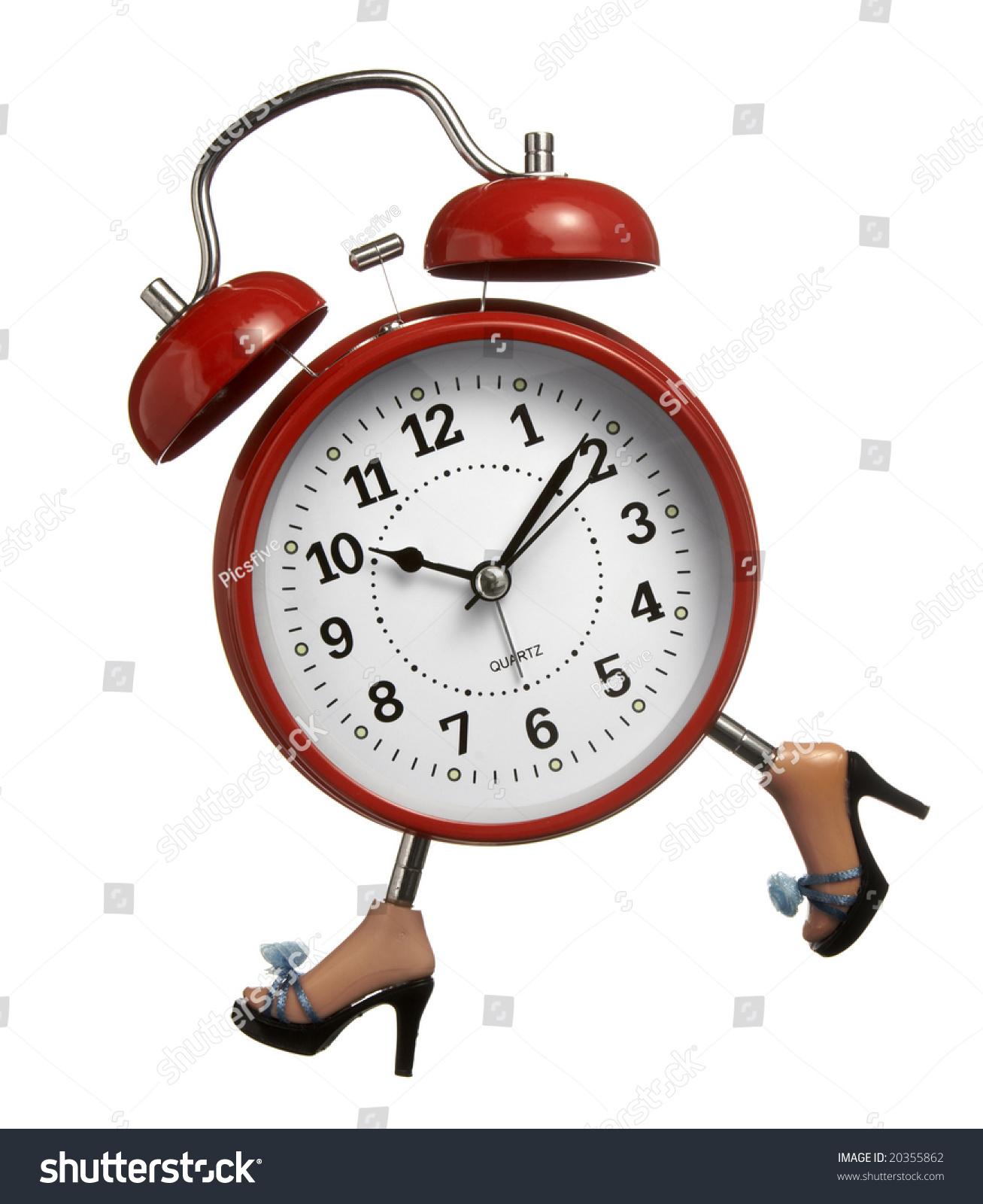 Close Red Clock Legs Running On Stock Photo 20355862 - Shutterstock