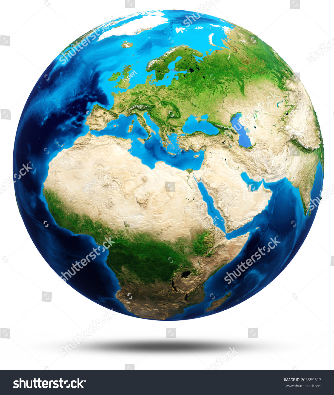 World globe real relief elements this stock illustration 203559517 world globe real relief elements of this image furnished by nasa 3d rendering gumiabroncs Gallery