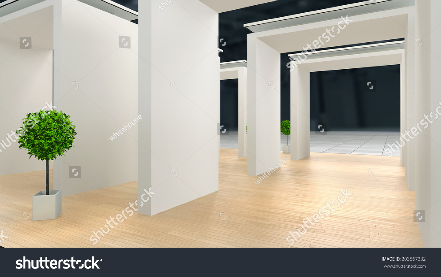 Exhibition Stand Lighting : Abstract exhibition stand laminate flooring blank stock illustration