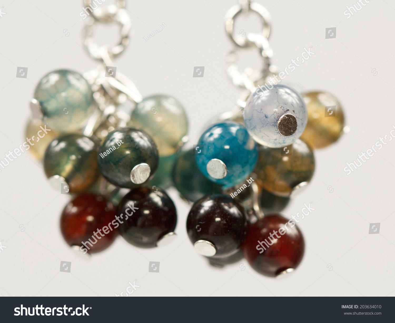 Silver Jewels Colorful Precious Stones Light Stock Photo 203634010 ...