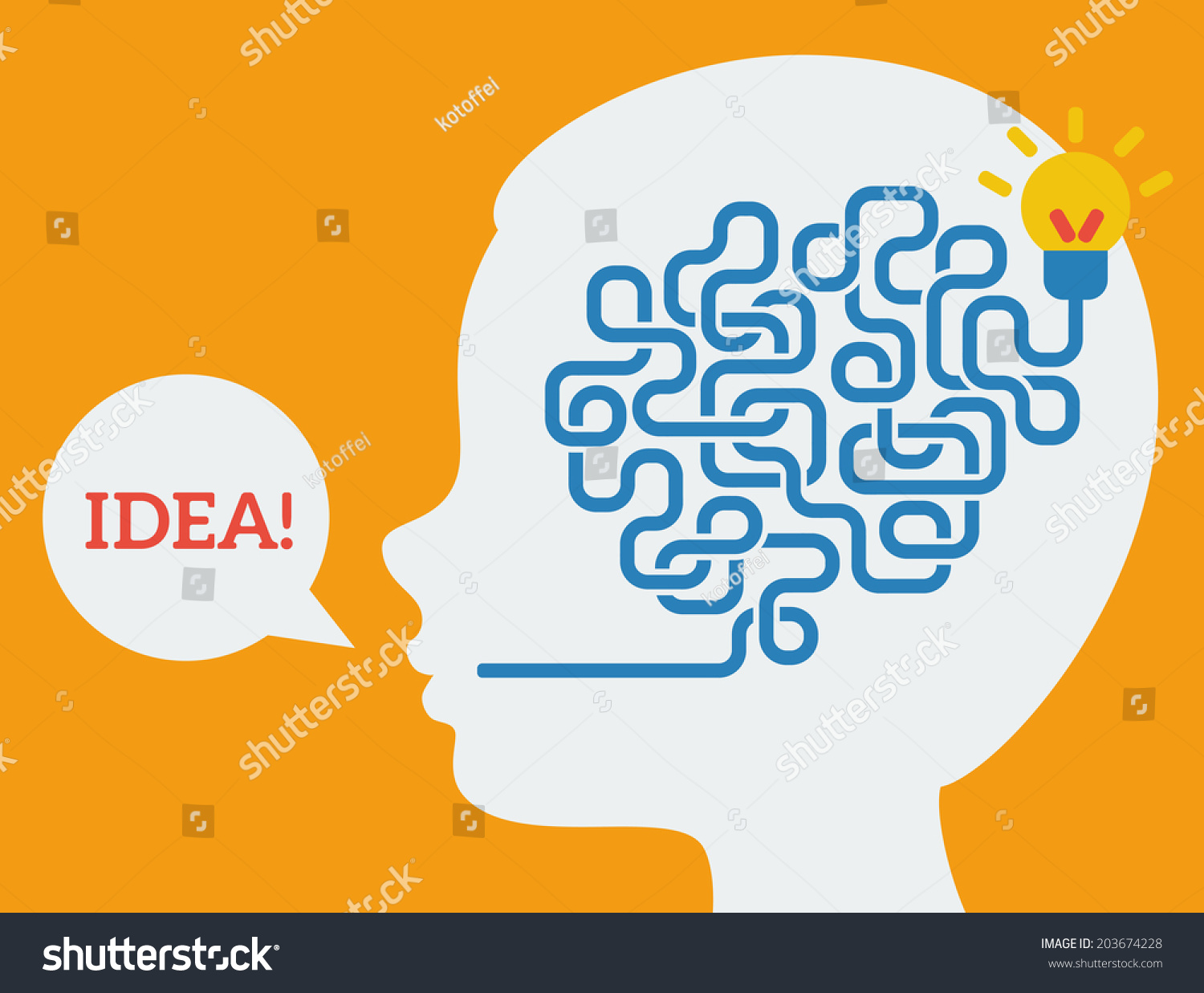 Creative Concept Of The Human Brain, Vector Illustration ...