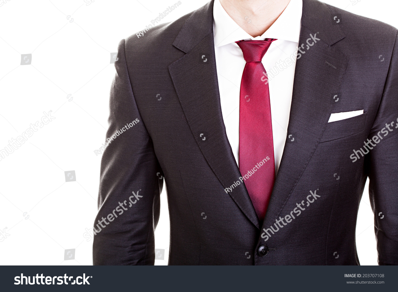 Businessman Wearing Formal Suit Tie Stock Photo 203707108 ...