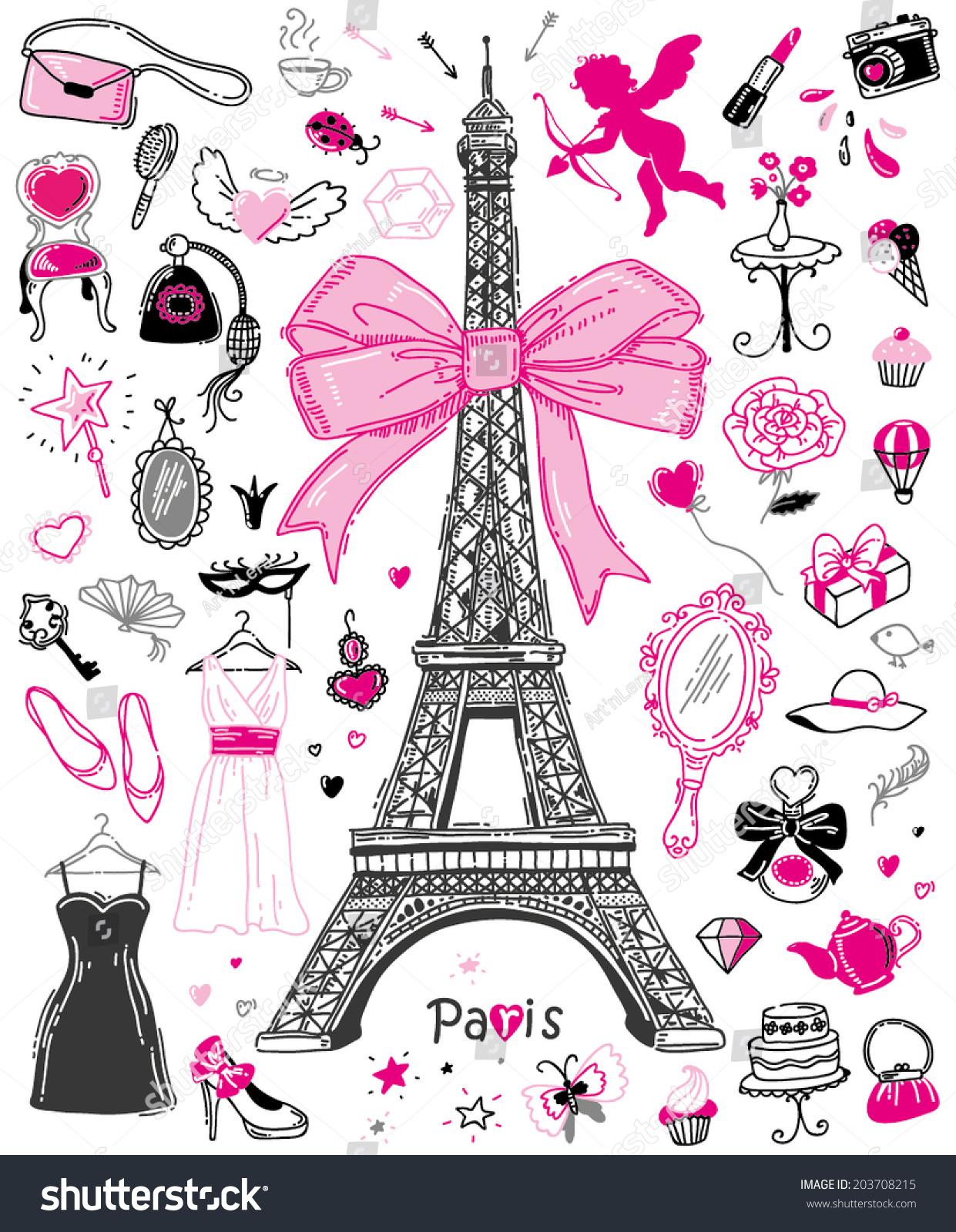 1000 Paris Illustrated Stock S & Vectors