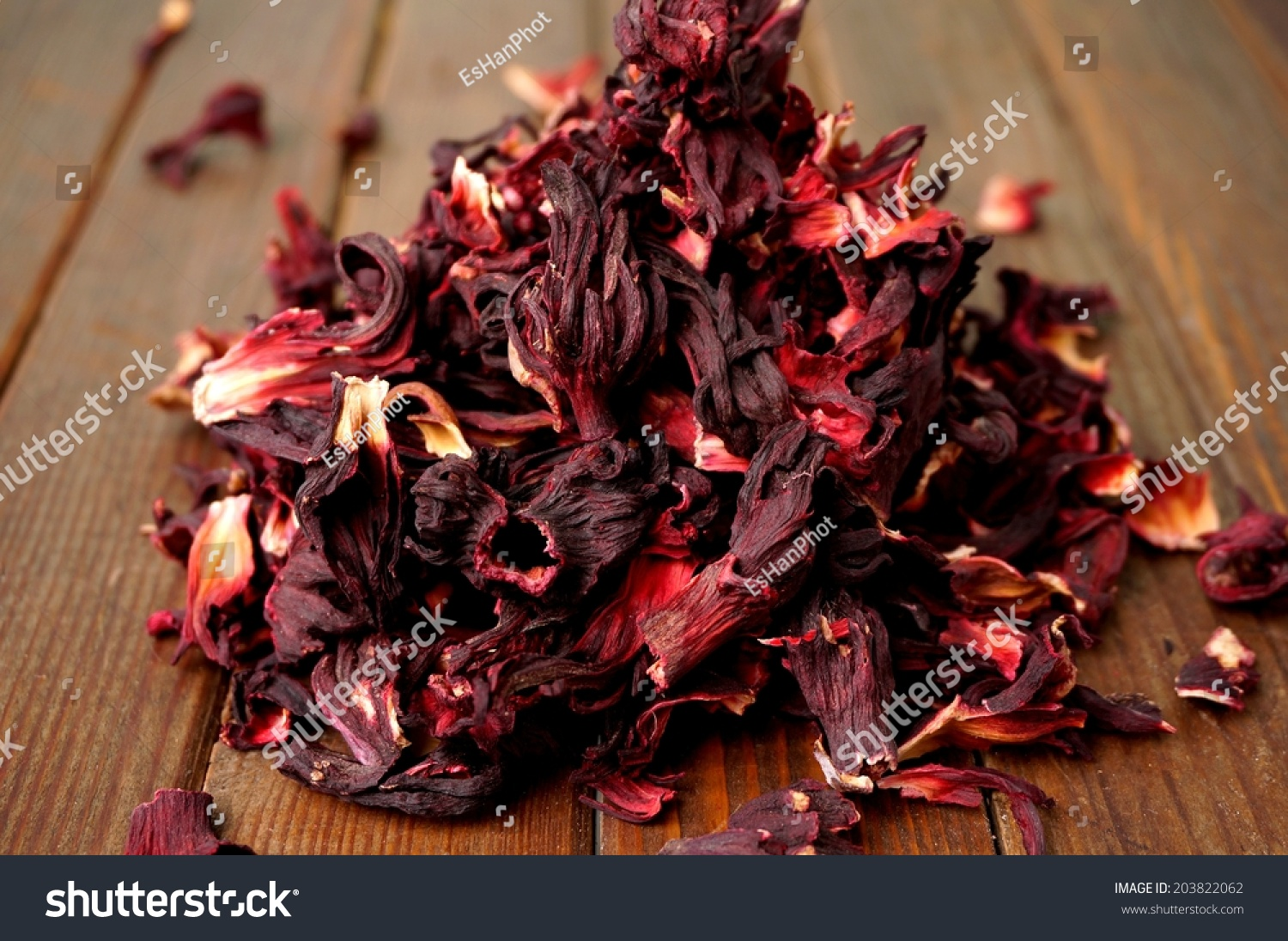 Dried Hibiscus Flower Petals Stock Photo Edit Now 203822062