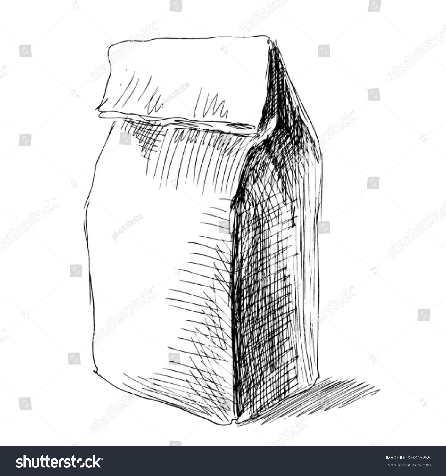 Paper bag sketch -