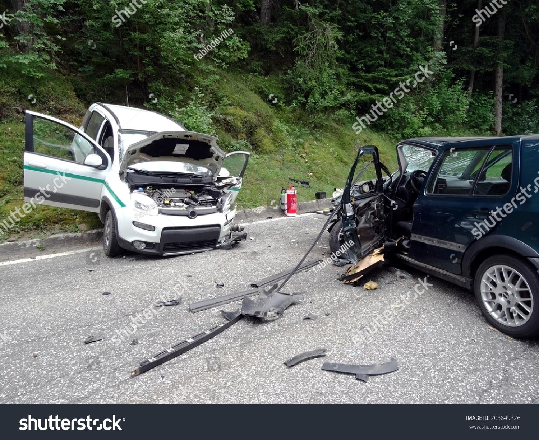 Bressanone, Italy - June 5, 2014: Frontal Collision ...