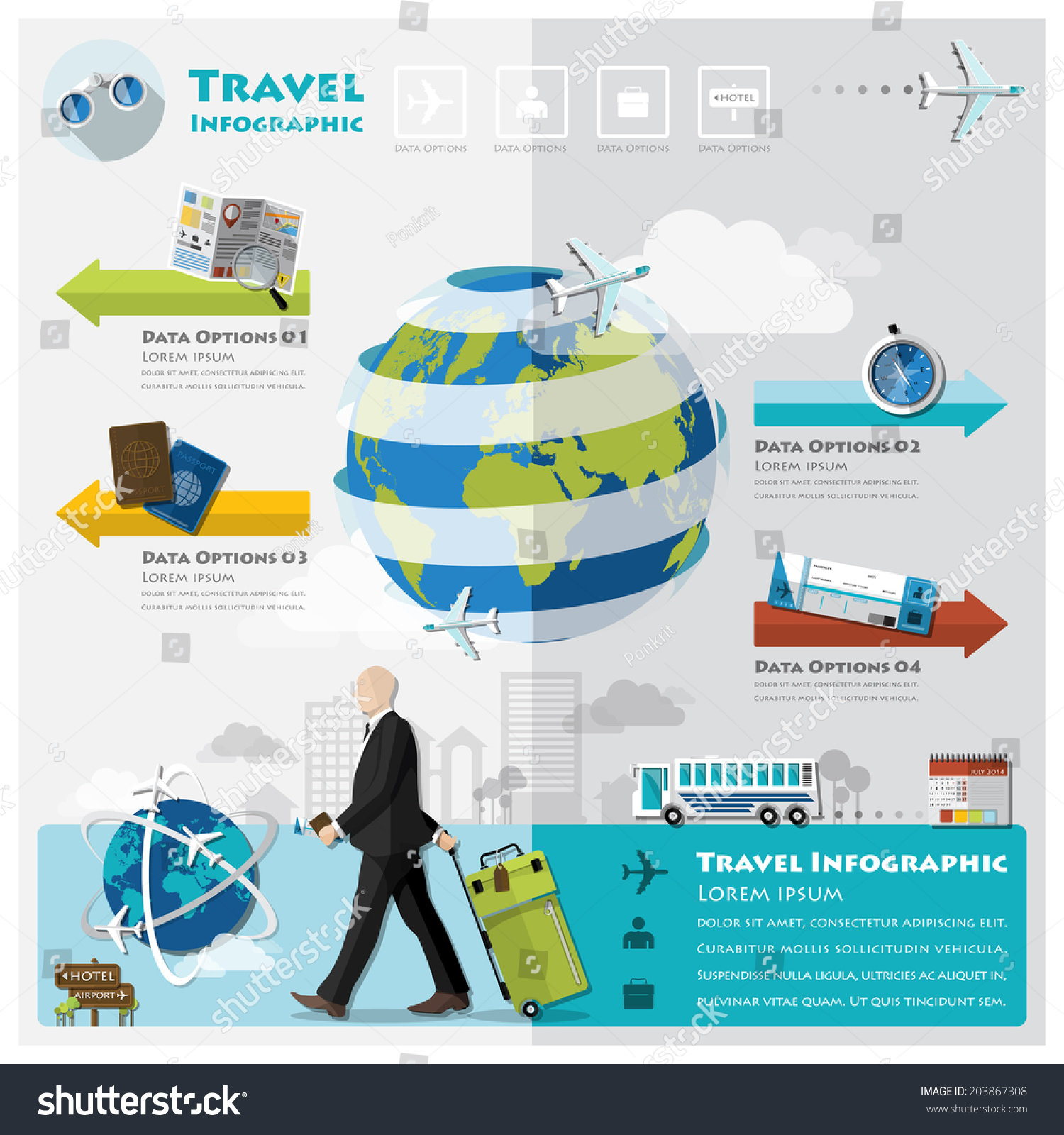 Travel Journey Business Infographic Design Template Vector – Travel Policy Template
