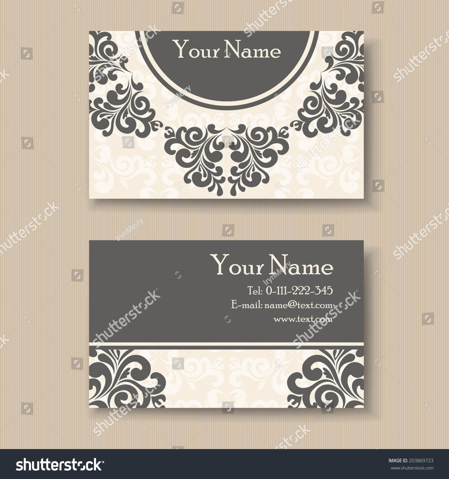 Stylish vintage business card template stock vector 203869723 stylish vintage business card template flashek Images