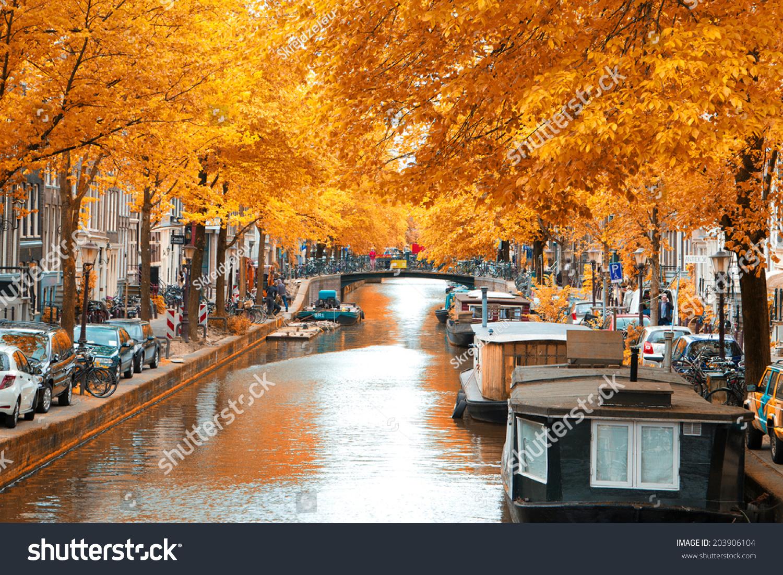 Amsterdam Autumn Beautiful Places Europe Stock Photo 203906104 Shutterstock